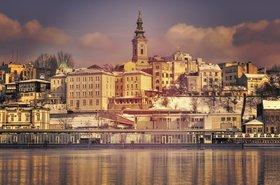 Belgrade from the river Sava