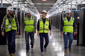 Mark Zuckerberg at Facebook's Fort Worth data center