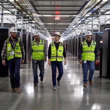 Mark Zuckerberg at Facebook's Fort Worth data center
