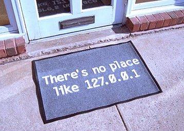 No place like home mat