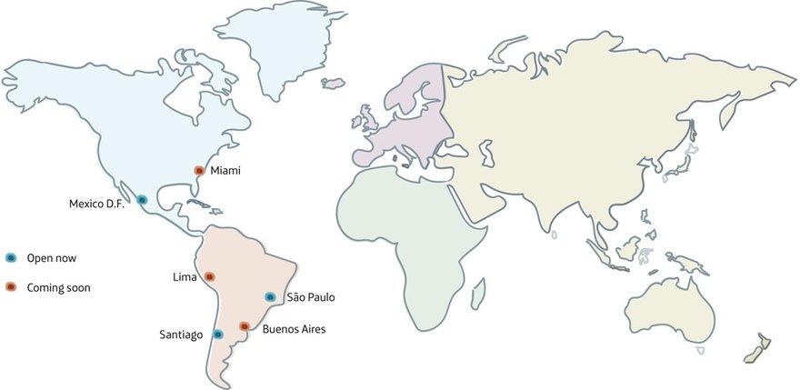 Open Telefonica cloud map