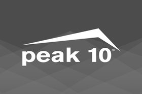 Peak 10 logo with graphic