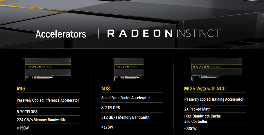 The Radeon Instinct line up