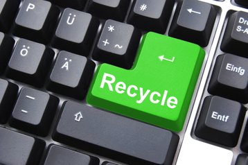 recycle green disposable data center Thinkstock  Gunnar Pippel
