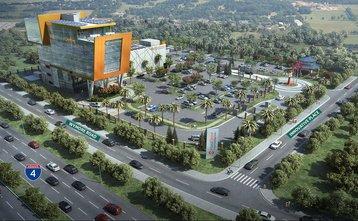 HostDime data center in Eatonville - 3D render