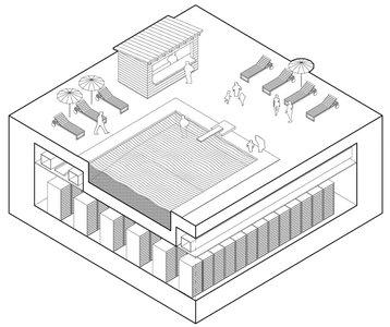 rhizome data center swimming pool