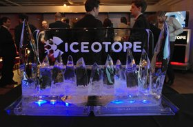 Iceotope logo in ice