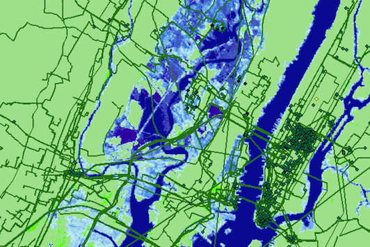 Seawater inundation projected for New York City by 2033