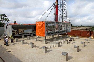 Flexenclosure site assembly, Cote D'Ivoire