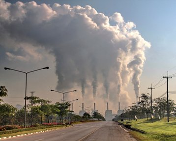 Smoke from a coal power plant