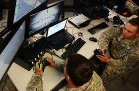 Soldiers use Xbox controllers to remotely aim and fire guns