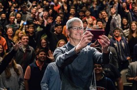 Tim Cook is happy