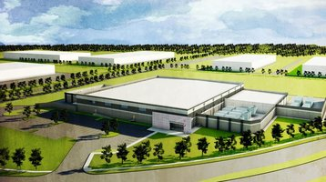 ViaWest data center in Plano, Texas - artist's impression