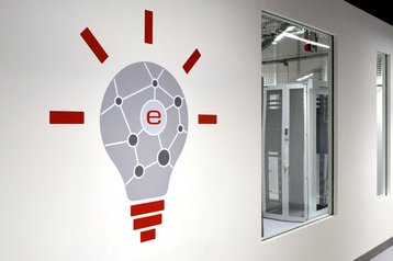 Inside an e-shelter data center