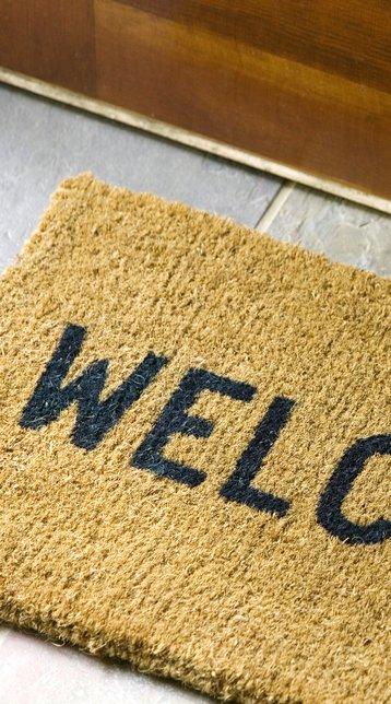 welcome doormat vertical