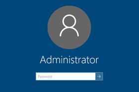 Windows Server 2016 - login screen