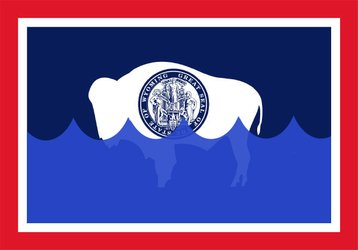 Wyoming State flag climate change