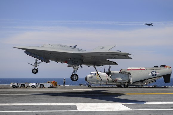 The US Navy's X-47B unmanned aircraft is powered by Dell technology