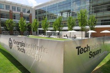 Tech Square sign in Atlanta