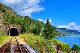 Railway tunnel near Lake Baikal, Siberia